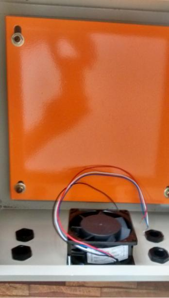 Caixa Hermética Em Aço 60x50x20 + Cooler+chave Yalle