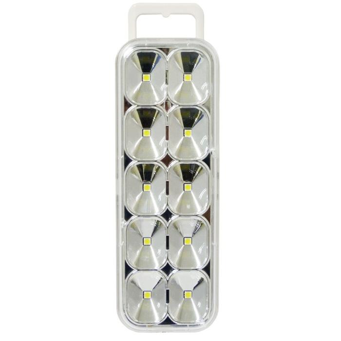 LUZ EMERGENCIA 10 SUPER LED SMD = 60 LED BIVOLT RECARREGAVEL MAXTEL