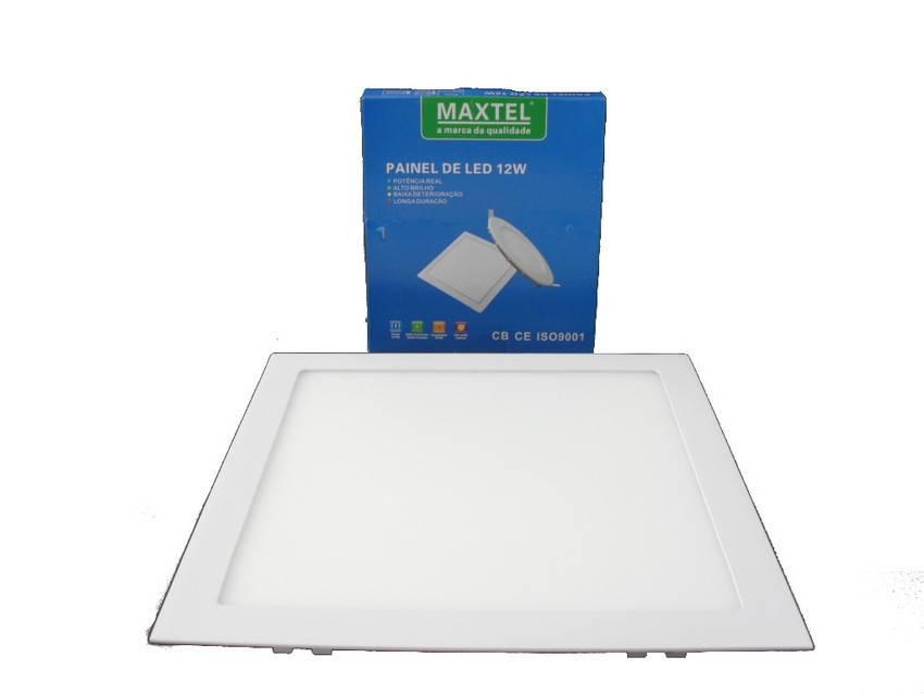 Luminarias Paflon Led 12w Embutir Maxtel Quadrado  Cod: MT1412A