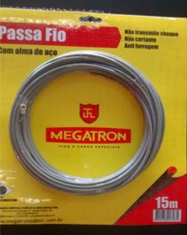 GUIA Passa Fio Megatron C/alma De Aco 15mt