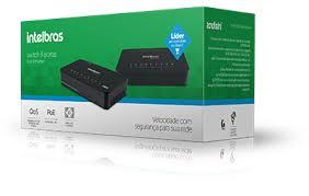Switch Intelbras Sf800q+ 8 Portas 10/100mbps Poe Passivo