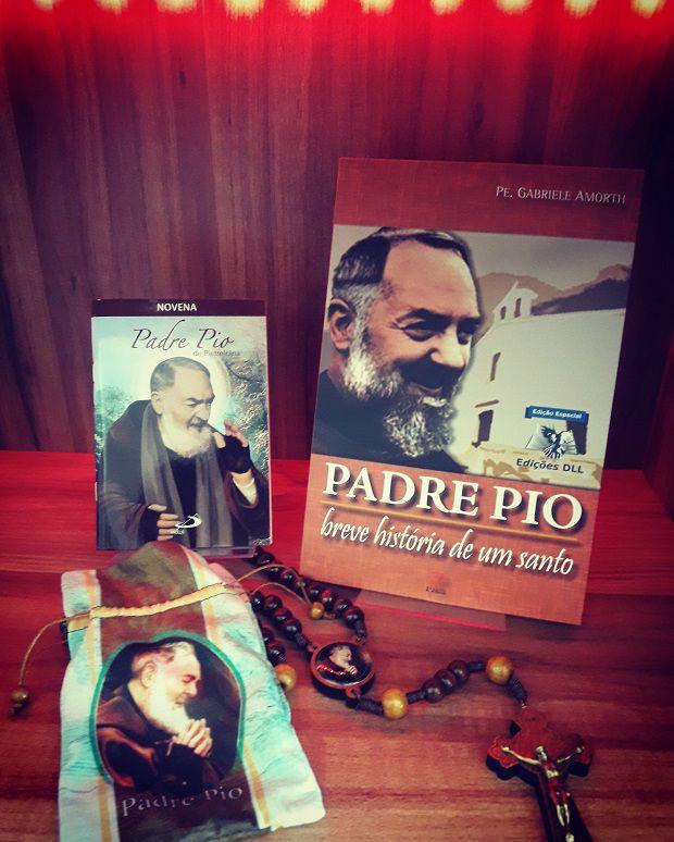 KIT COMBO PRODUTOS PADRE PIO  - Armazém Católico - Livraria Católica
