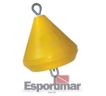 BOIA ARRINQUE AMARELA COM FERRAGENS - ESPORTIMAR