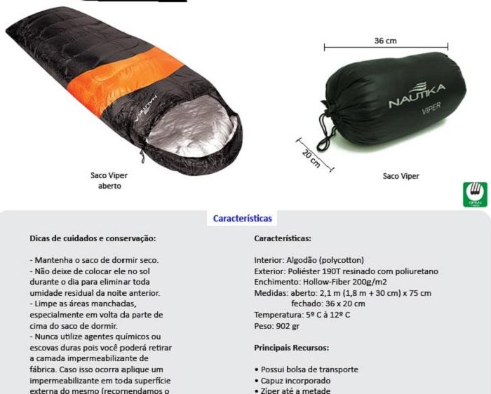 SACO DORMIR NAUTIKA VIPER - ESPORTIMAR
