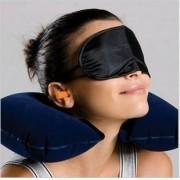 Kit Viagem Travesseiro + Mascara + Protetor