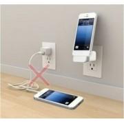 Carregador de Tomada Dock Station + USB - iPhone5, iPad, iPod - Frete Gr�tis
