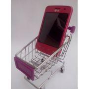 Mini carrinho supermercado  Porta Celular - Frete Grátis
