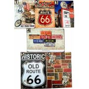 Placa Vintage Route - Frete Grátis