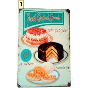 Placa Decorativa Vintage Cozinha - Torta - Frete Grátis
