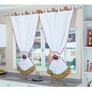 Cortina para Cozinha Branca - Frete Grátis