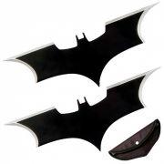Kit 2 Facas Shuriken Arremesso Bumerangue Batman Aço Afiada
