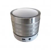 Mini Caixa Som Metálica Bluetooth | LED | FM | Micro SD