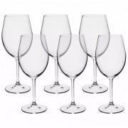 Conjunto 6 Taças Cristal Titânio 450ml Gastro Copo Vinho Bohemia