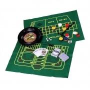 Kit com 5 Jogos Roleta, Poker, Cartas, Dados e Blackjack