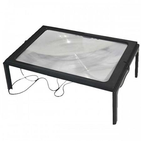 Lupa de Mesa Bancada com Luz - Frete Gr�tis  - Thata Esportes