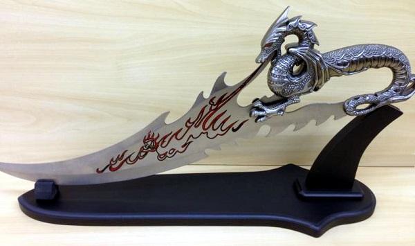 Fac�o Espada Drag�o - Frete Gr�tis  - Thata Esportes