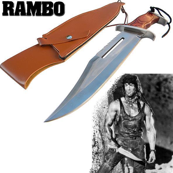 Faca Bowie Tática Militar Rambo 3 Firstblood P/Sobrevivência - Frete Grátis  - Thata Esportes