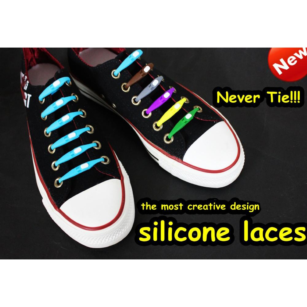 Kit Cadarço Colorido de Silicone   - Thata Esportes
