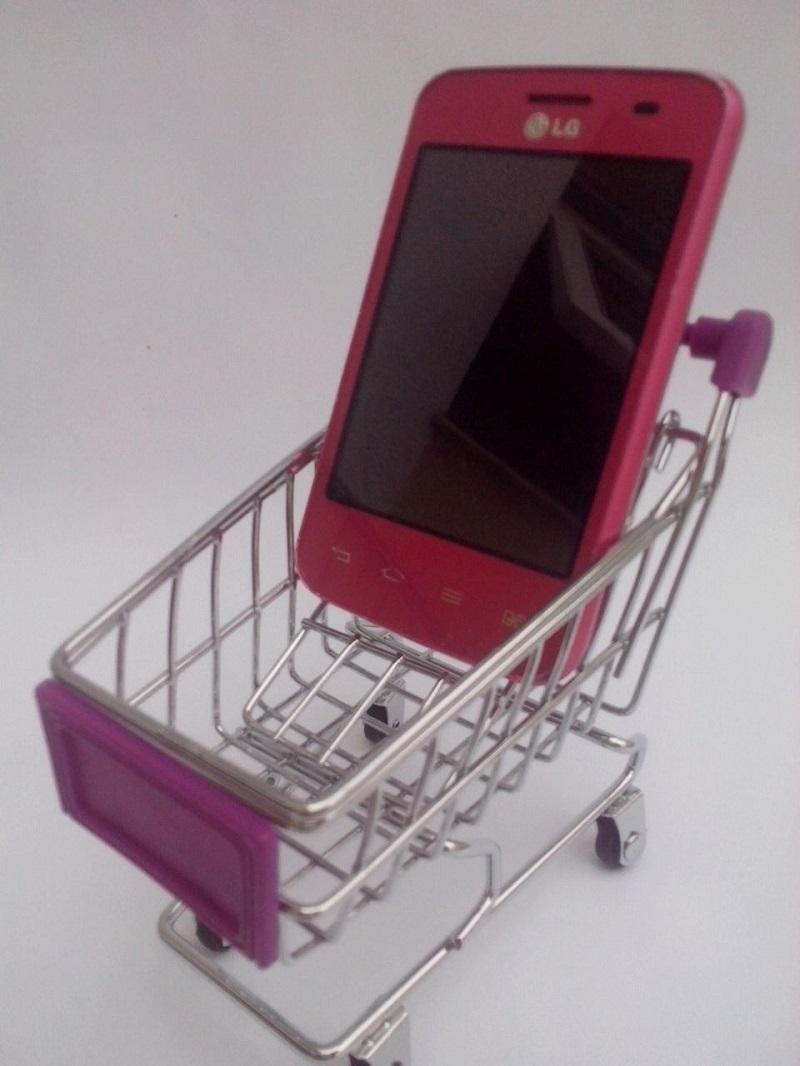 Mini carrinho supermercado  Porta Celular - Frete Grátis  - Thata Esportes