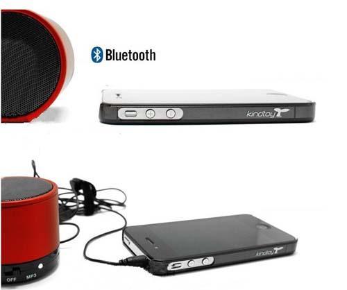 Caixa de Som Bluetooth Redonda P/ Iphone 4 5 5s Samsung Galaxy S3 S4 mp3 Tablet - Frete Grátis  - Thata Esportes