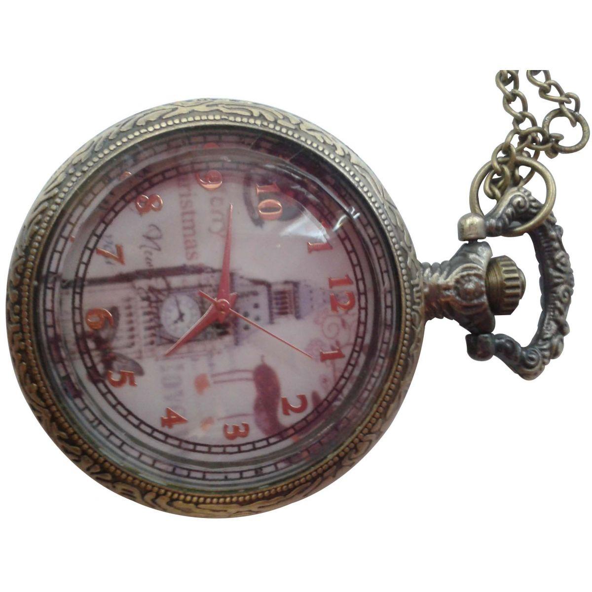 Relógio Vintage de Bolso   - Thata Esportes