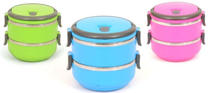 Marmita Lancheira Térmica Lunch Box - Hermético - 2 Compartimentos  - Thata Esportes
