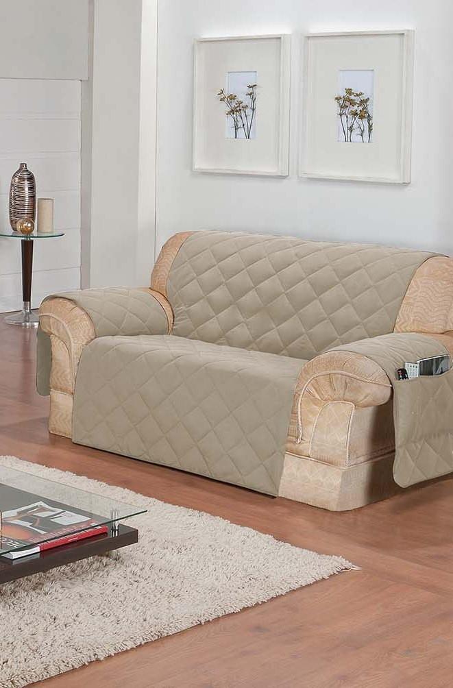 Protetor de Sofa Microfibra com Porta Revistas (2 Lugares) - Frete Grátis  - Thata Esportes