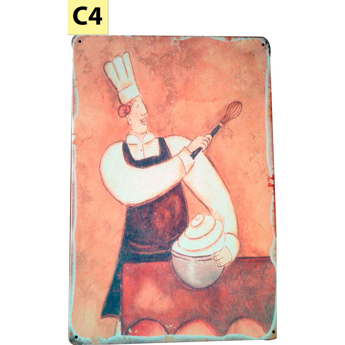Placa Decorativa Vintage Cozinha - Chefe Gourmet - Frete Grátis  - Thata Esportes