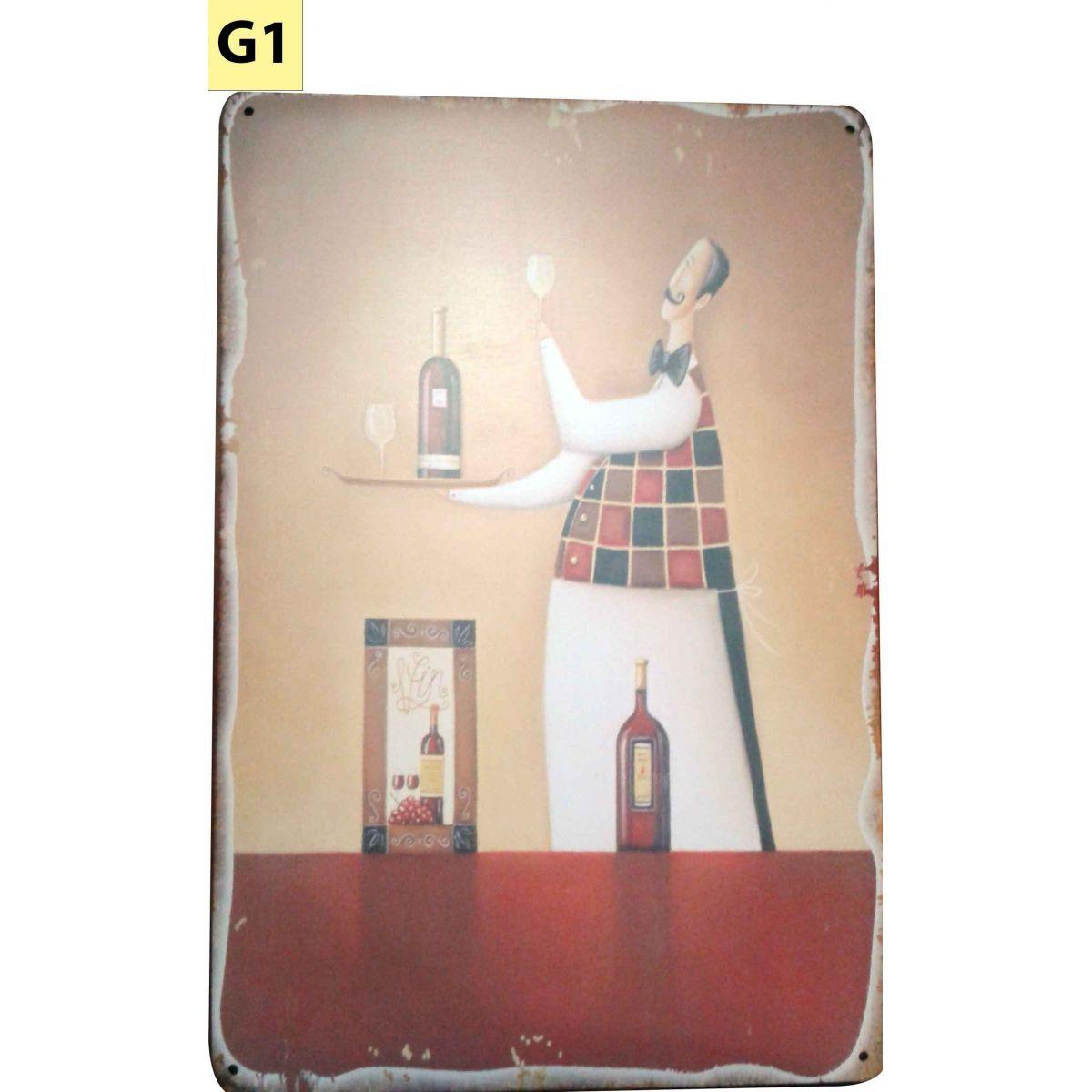 Placa Decorativa Vintage Cozinha - Gar�om - Frete Gr�tis  - Thata Esportes