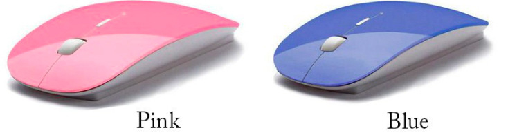 Mouse Wireless Ultra Fino colorido - Frete Grátis  - Thata Esportes