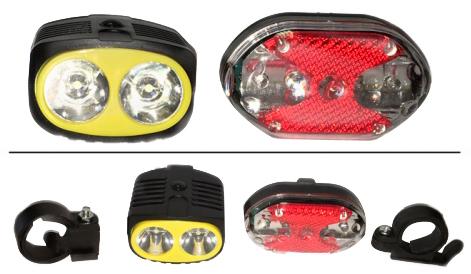 Kit Farol e Lanterna Led Traseira para Bike  - Thata Esportes