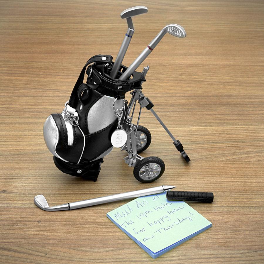 Kit Mini Equipamento de Golf Bolsa Canetas Tacos  - Thata Esportes