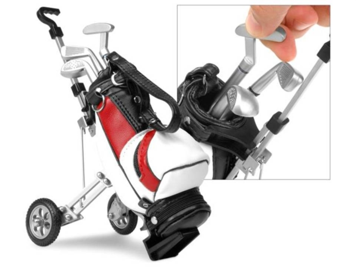 Mini Kit de Golf de Mesa + Bolsa + Tacos Canetas + Green   - Thata Esportes