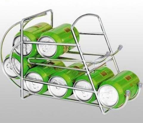 Porta Latas Dispenser Cromado para Geladeira 9 Latinhas  - Thata Esportes