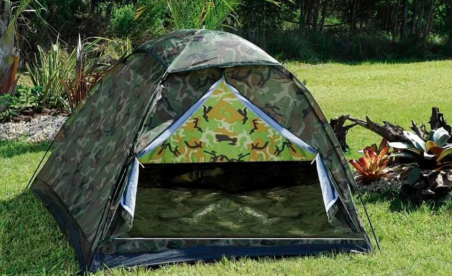 Barraca Cabana Automática Camuflada Camping para 3 pessoas  - Thata Esportes