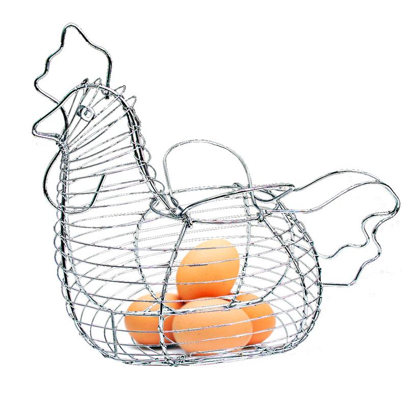 Cesto Porta Ovos Aramado de Galinha  - Thata Esportes