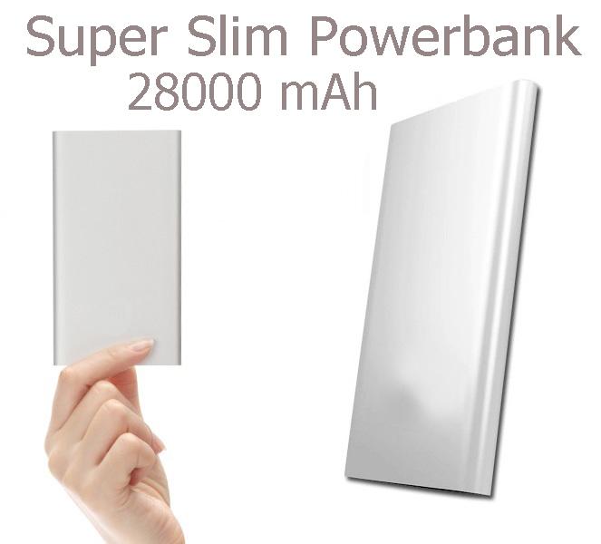 PowerBank Carregador Port�til UltraFino 28000 Mah USB  - Thata Esportes