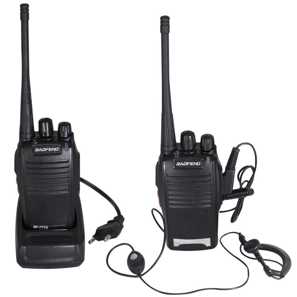 Kit 2 Rádios Comunicador UHF/VHF Walk Talk  - Thata Esportes