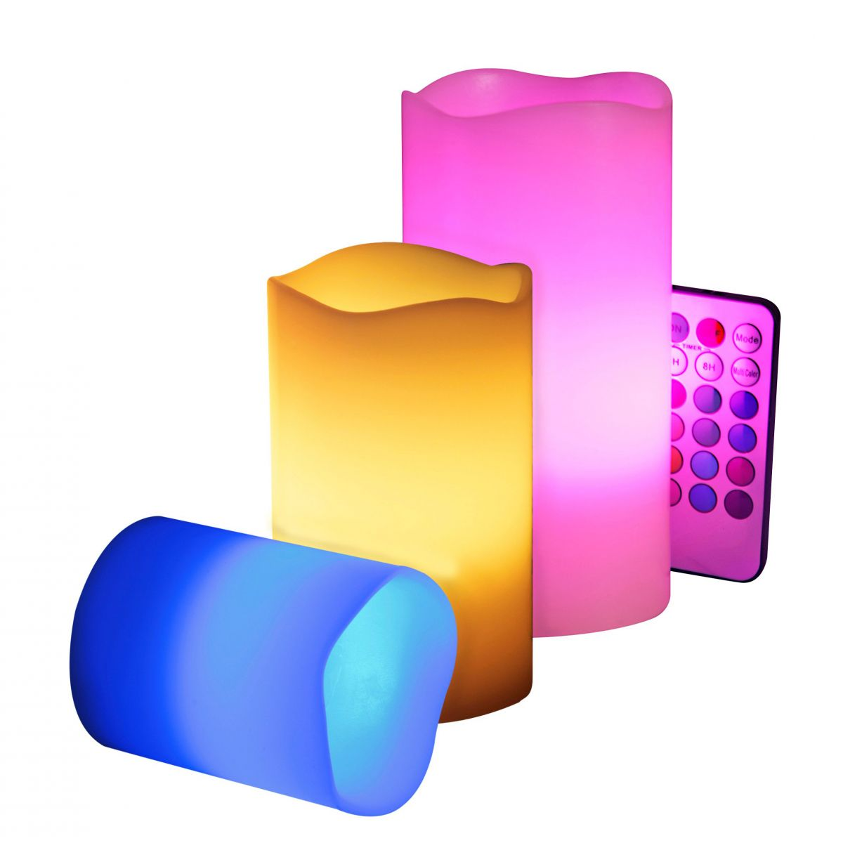 Kit 3 Velas Led - Multi Color Controle Remoto  - Thata Esportes