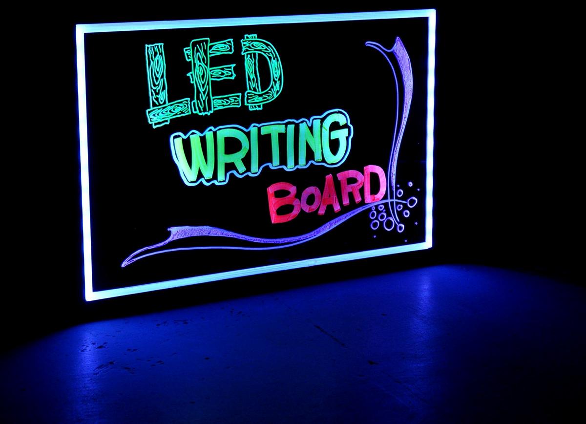 Quadro Painel Luminoso Lousa Quadro Led Neon 22x30 cm  - Thata Esportes