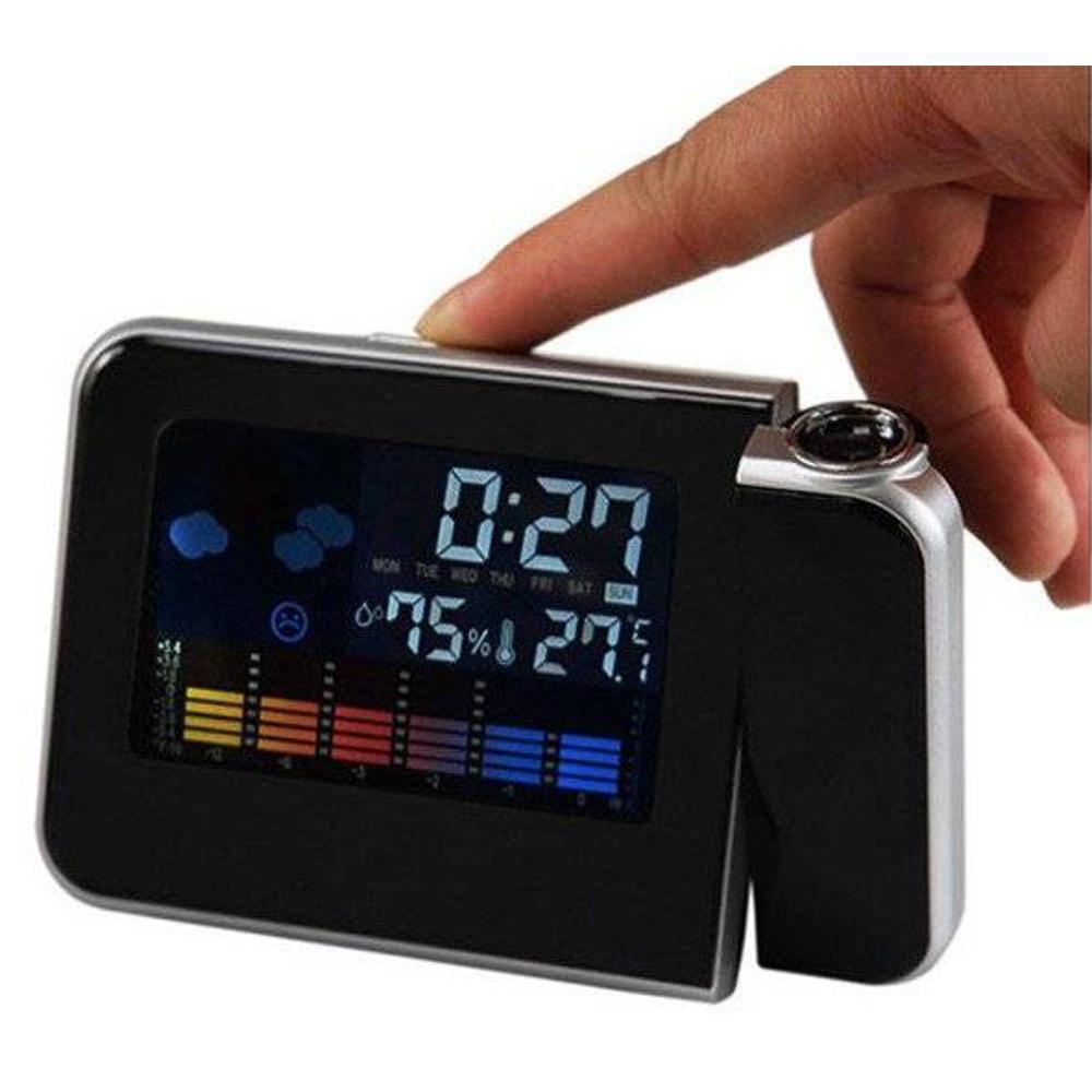 Relógio Projetor com Termômetro   - Thata Esportes