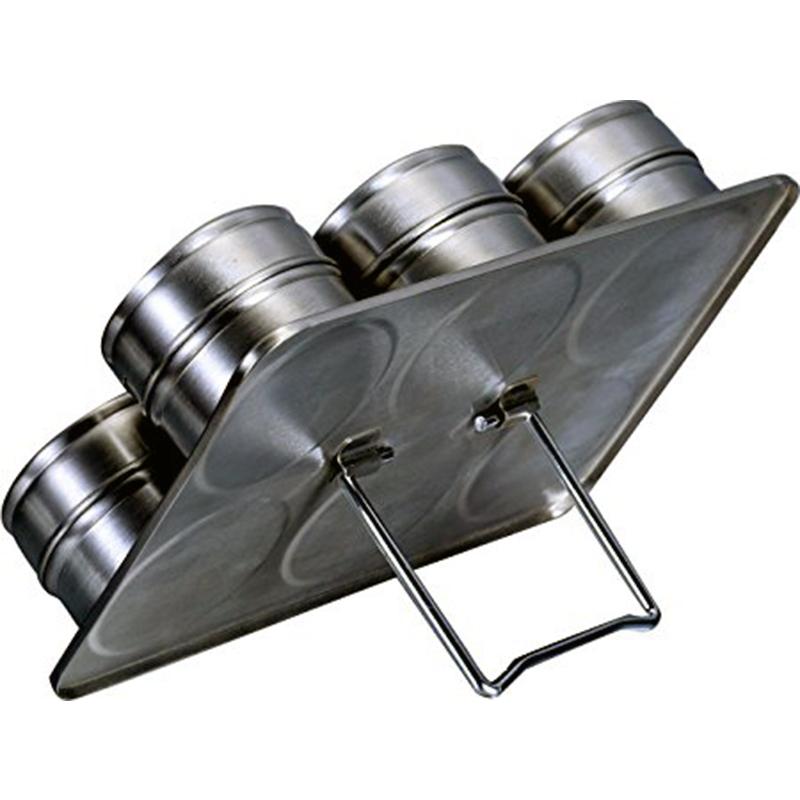 Kit Porta Condimentos Magnéticos Inox 6 Peças  - Thata Esportes