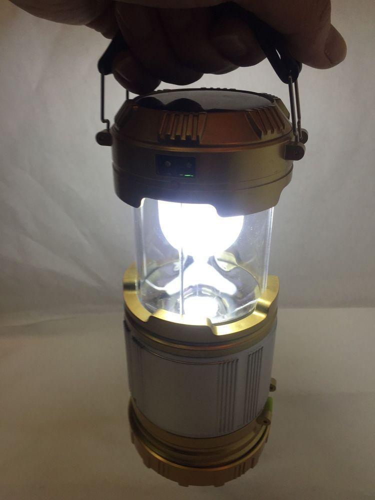 Lanterna Lampião Solar Retrátil para Camping  - Thata Esportes