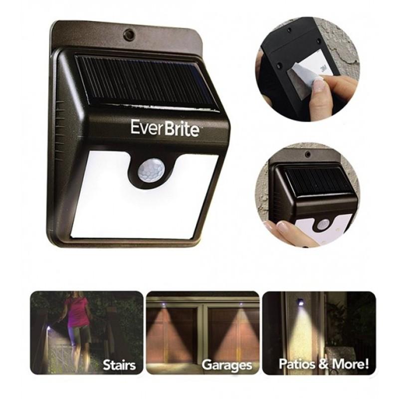 Lâmpada Solar de Parede com Sensor de Presença  - Thata Esportes