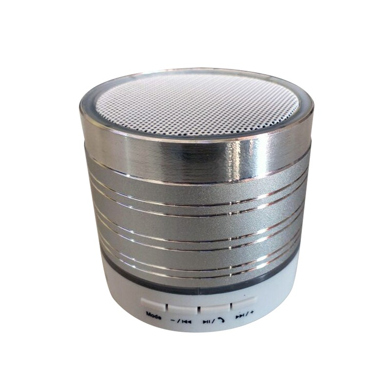 Mini Caixa Som Metálica Bluetooth | LED | FM | Micro SD  - Thata Esportes