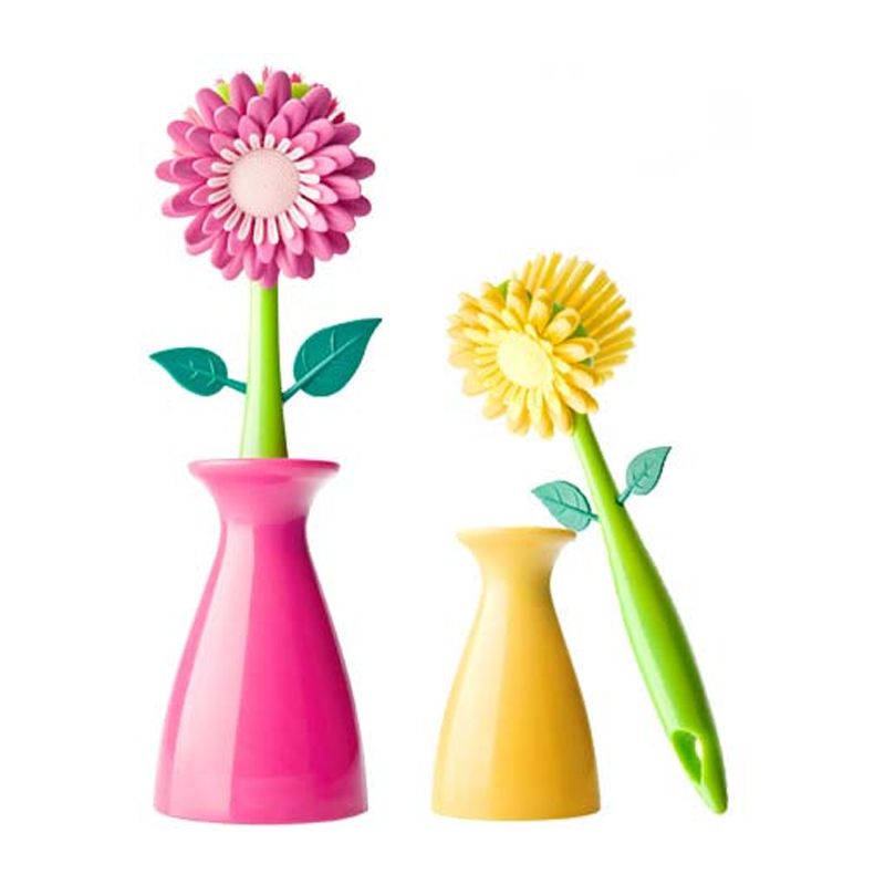 Escova Multi-Uso Formato Flor - Frete Grátis  - Thata Esportes