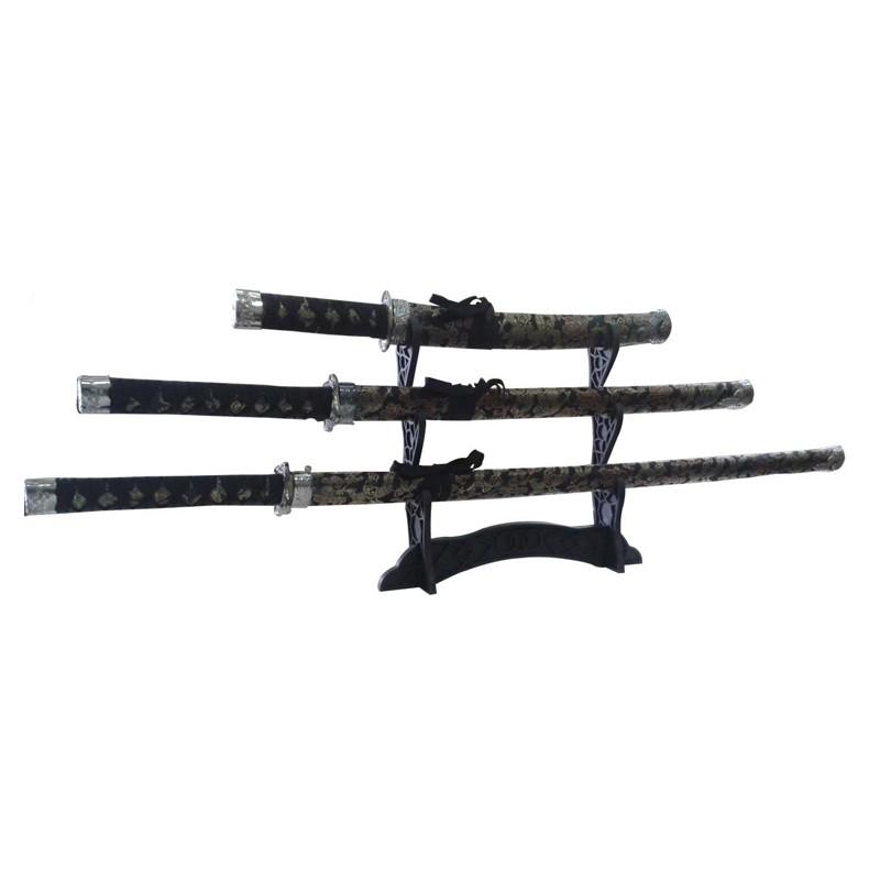 Kit 3 Espadas Samurai   - Thata Esportes