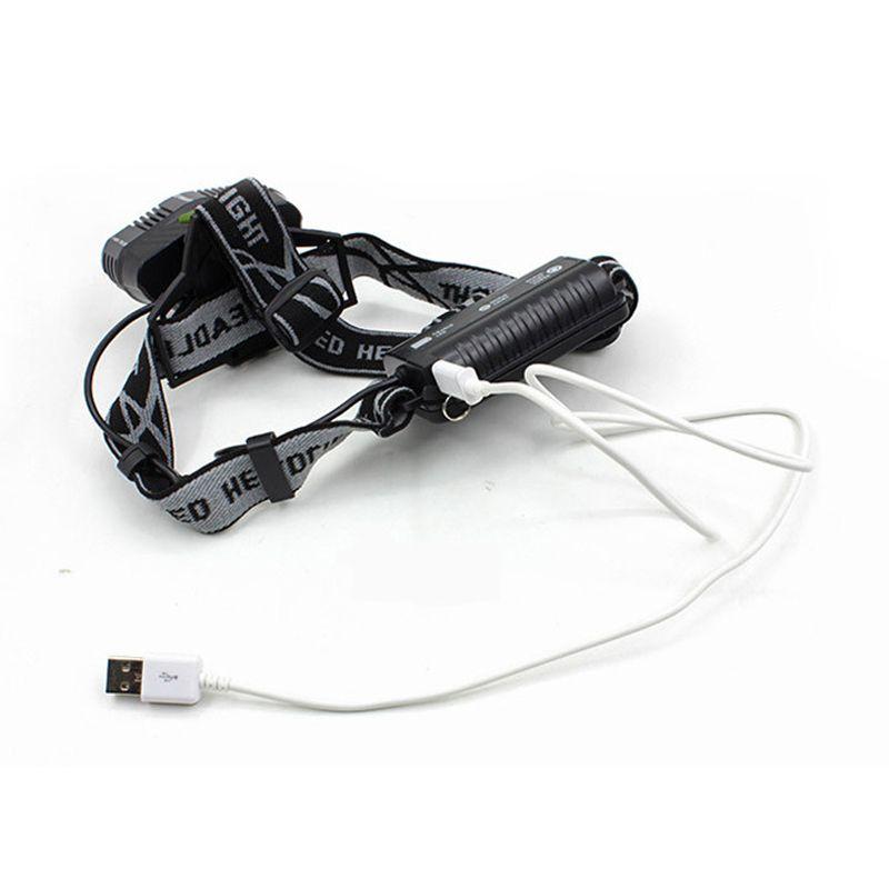 Lanterna de Cabeça 5 Modos 3 LEDs 2 UV Acampamento Trilha Caminhada  - Thata Esportes