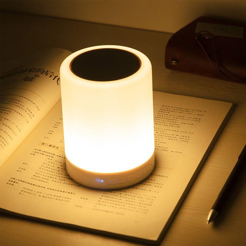 Luminária Abajur Caixa de Som Bluetooth   - Thata Esportes