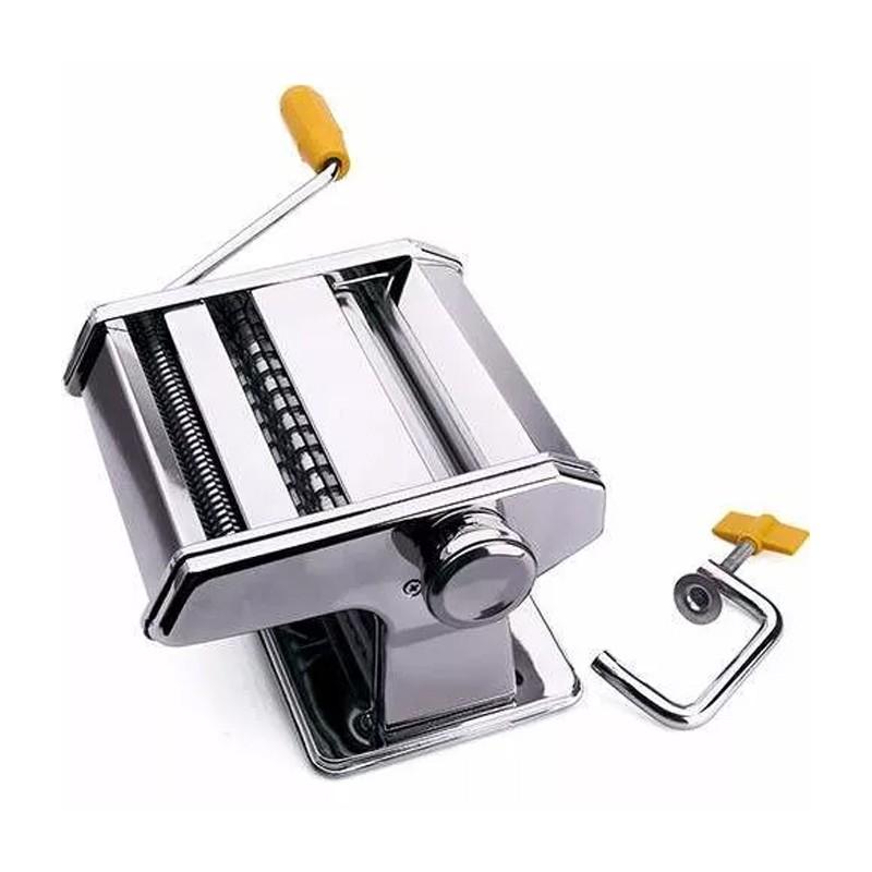 Máquina De Massa Caseira Aço Inox Lasanha Espaguete Talharim  - Thata Esportes
